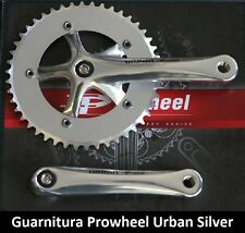 65SK Guarnitura singola Prowheel Urban Silver 46T per bici 26-28 Fixed Scatto Fi