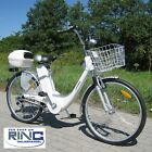 "Electric Bike E-Bike 250 Watt 26"" Pedelec City Power Battery SILVER BLACK"