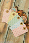 20 recycled PASTEL DOT Card TAGS w Kraft REINFORCED Hole craft gift tag labels