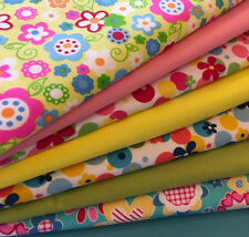 Fat Quarters Bundles Flowers Spots Craft Sewing Bunting Dressmaking Retro A26