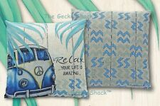 CUSHION Kombi Relax Your Life is Amazing VW Throw Bed Sofa Lounge Lisa Pollock