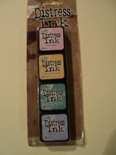 TIM Holtz Distress Ink Mini Pack #4 tdpk 40347 NUOVO con confezione 4 MINI Ink Pad * Look *