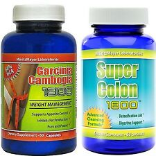 GARCINIA CAMBOGIA EXTRACT1000mg. & COLON CLEANSE 1800  WEIGHT LOSS
