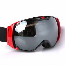 Black & Red Frame Adult Ski Goggles Anti Fog Double Lens Snow Board Snow Goggles
