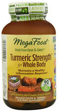 MegaFood Turmeric Strength for Whole Body 60 Tabs FREE SHIPPING