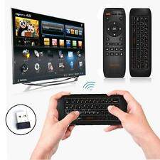 Rechargeable Wireless Keyboard Gyro Fly Air Mouse IR Remote Control for PC TVBox
