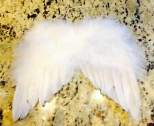 ANGEL WINGS MINI ADORABLE WHITE REAL FEATHER ANGEL 6X7 WITH ELASTIC LOOP 1 EACH