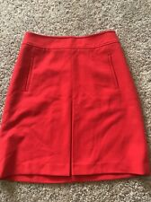 Ann Taylor Loft Red Pencil Skirt A-line Pockets Career Casual Size 2 Xsmall Xs