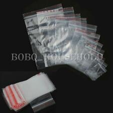 100Pcs Clear Grip Press Seal Resealable Zipped Zip Lock Plastic Bags 4cmX6cm