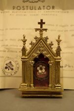 "+ Reliquary w/ Relic & Document of ""St. Pope Pius X"" + (CU873) + chalice co. +"