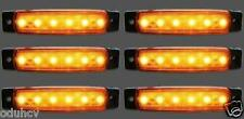 6 pz 24V 6 LED Indicatore Laterale Arancio Color ambra Luci per camion Mercedes