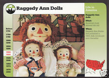 RAGGEDY ANN AND ANDY DOLLS Grolier History PICTURE STORY OF AMERICA CARD