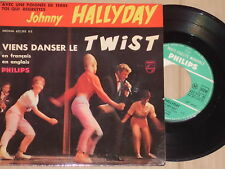 "JOHNNY HALLYDAY -Viens Danser Le Twist- 7"" 45 (3 Songs)"