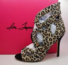 ISA TAPIA Leopard Animal Print Cut Out CAMERON Heels Shoes sz 38 US 8 $550