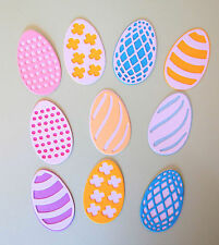 Easter Egg Eggs Paper Die Cut Embellishments scrapbooking 10 pc card making