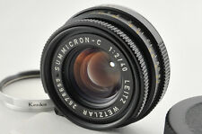 Leica Summicron C 40mm f/2 Lens For CL CLE M Mount Lens from Japan #0435