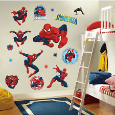 Spider-man kids room decor Wall sticker boy gift Home decals Nursery Art Mural