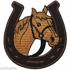 Horse Pony Cowboy Western Rodeo Racing Shoe Tattoo Biker Iron on Patches #1183