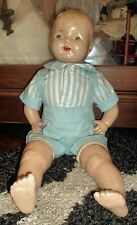 Smaller Composition Baby Boy Doll w/Tin Eyes ~ AS FOUND