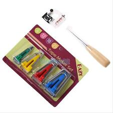For Sewing Quilting Set of 4 Fusible Bias Binding Tape Makers Awl Kit Set NEW
