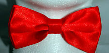 HIGH QUALITY PLAIN CHRISTMAS RED PRETIED MENS BOW TIE ADJUSTABLE DICKIE