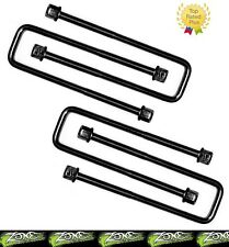 """Zone Offroad 9/16"""" x 2-1/2"""" x 7"""" Square U-bolts Set of 4 Made in the USA"""