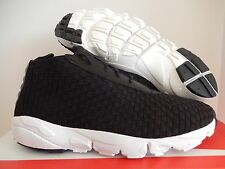 NIKE AIR FOOTSCAPE DESERT CHUKKA QS BLACK-BLACK SZ 9.5 [637162-001]