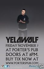 YELAWOLF SAN DIEGO CONCERT TOUR POSTER - American Rapper, Hip Hop, Rap Music