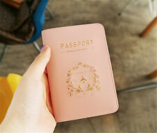 1pc Pink Passport ID Credit Card Travel Utility Holder Cover Case Skin Protector