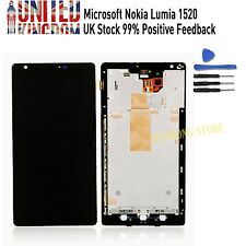 Black LCD Display Touch Screen Digitizer Assembly & Frame For Nokia Lumia 1520