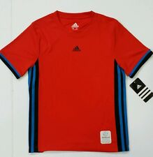 Boy's Adidas Climacool T Shirt Bright Red w/Side Stripes Childerns Size 5