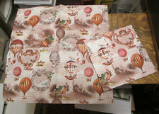 5 GERMAN WHIMSICAL VICTORIAN HOT AIR BALLOONS ART DECOUPAGE PAPER NAPKINS LOT