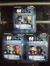DC UNIVERSE Mez-Itz Series 1 Complete New Set of  3  2-Packs Superman Batman Gre