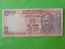 India 10 Rupees ★ STAR ★ Symbol 2011 (PERFECT UNC) Gandhi, Tractor