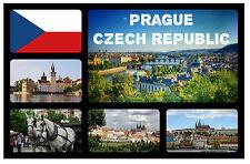PRAGUE, CZECH REPUBLIC - SOUVENIR NOVELTY FRIDGE MAGNET - FLAGS / SIGHTS - NEW