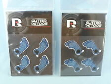 North Carolina Tar Heels GLITTER TATTOOS New in Package  RICO  Set of 4 packages