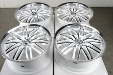 18 4x100 4x114.3 Rims White 4 Lug Fits Protege Cobalt Elantra Civic Wheels