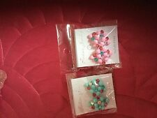 Multi coloured Costume Earrings Two Pairs