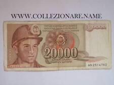 BANKNOTE BANCONOTA 20000 DINARA JUGOSLAVIJE 20000萨芬娜JUGOSLAVIJE (G1-24) (E)
