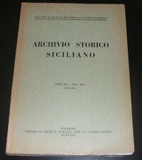 ARCHIVIO STORICO SICILIANO - SERIE III - VOL.XVI (1965-66)