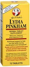 Lydia Pinkham Herbal Tablet Supplement 72 Tablets (Pack of 8)