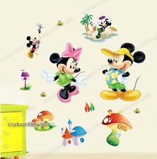Disney Mickey&Minnie Mouse REMOVABLE Wall Stickers Art Decals Nursery/Kids Room