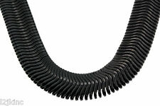 "Mens 24"" Inch 14K Black Plated 10mm Flat Herringbone Dome Necklace Chain"