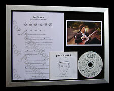 JASON MRAZ I'm Yours LTD GALLERY QUALITY CD FRAMED DISPLAY+EXPRESS GLOBAL SHIP