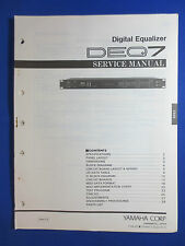 YAMAHA DEQ7 DIGITAL EQUALIZER SERVICE MANUAL ORIGINAL FACTORY ISSUE