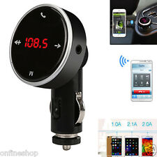 Wireless Bluetooth LCD FM Transmitter Modulator MP3 Player Car Kit SD MMC USB