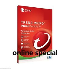 Trend Micro NEWEST LATEST Internet SECURITY 10 2017 3PC 1YR LICENSE WIN 7 8.1 10