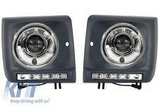 Headlights Mercedes W463 G-Class 1998+ Head Lamps Lights + Covers LED DRL Chrome