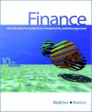 Finance : Introduction to Institutions, Investments, and Management by Ronald...