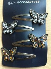 A  4 Pack Of Pretty Butterfly Design Hair Clips